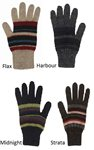 MX200 - Possum/Merino Striped Gloves