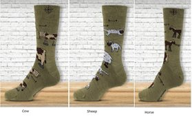 8491 - Cow, Horse, Sheep Socks